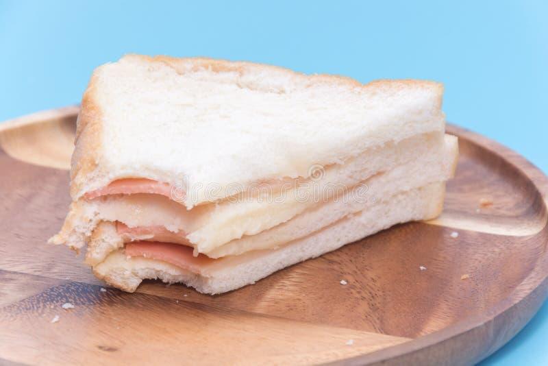 Kawałek baleron kanapka obrazy stock