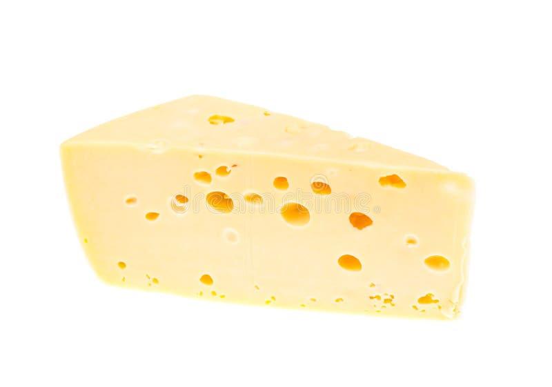 Kawałek ciężki ser na białym tle zdjęcia stock