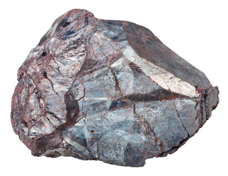 Kawałek hematyt ruda żelaza, haematite skała obrazy royalty free