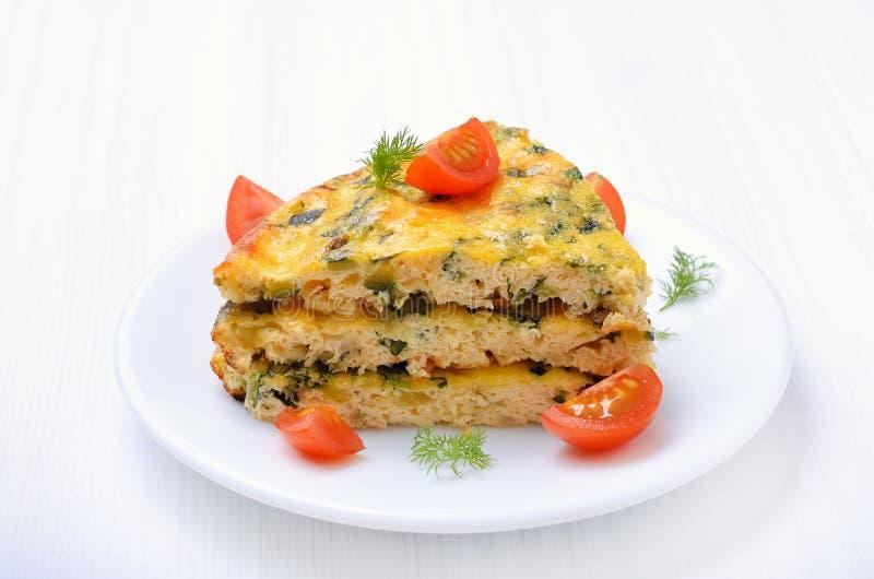 Kawałek jarzynowy omlet obrazy stock