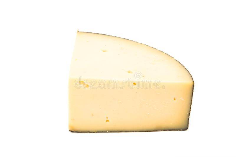 Kawałek odizolowywający holenderski ser obraz stock