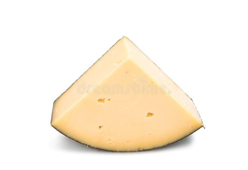 Kawałek odizolowywający holenderski ser obrazy stock