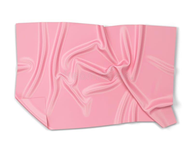 Kawałek płótno: sztandaru lub ręcznika mockup obrazy royalty free