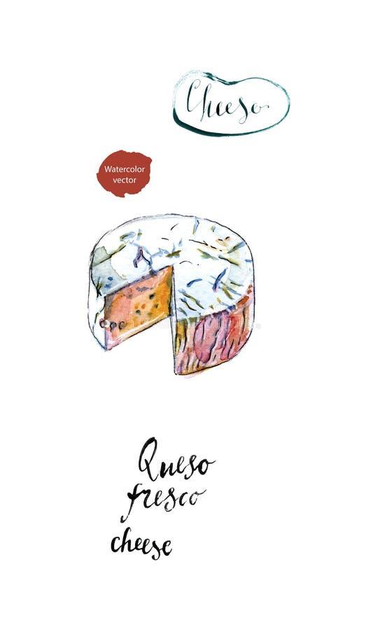 Kawałek pokrojony Latyno-amerykański ser ilustracji