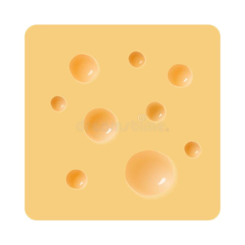 Kawałek ser z dziurami na bielu royalty ilustracja