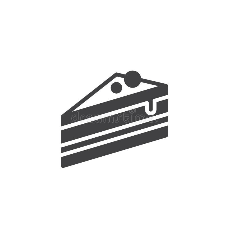 Kawałek tort ikony wektor ilustracji