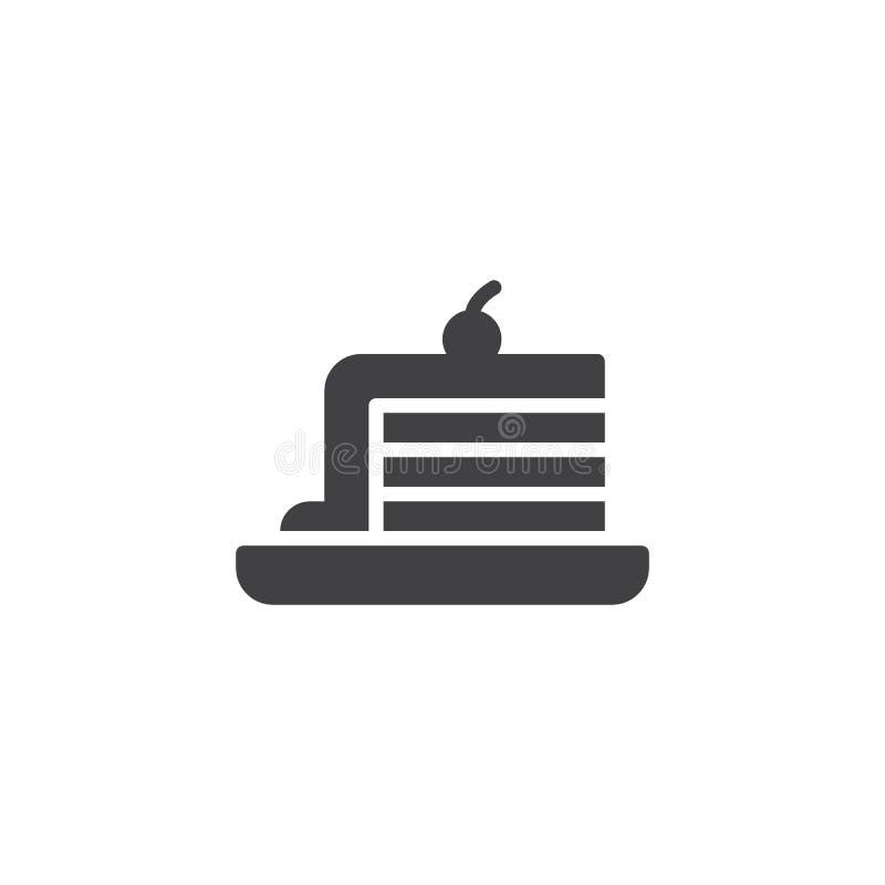 Kawałek torta wektoru ikona ilustracja wektor