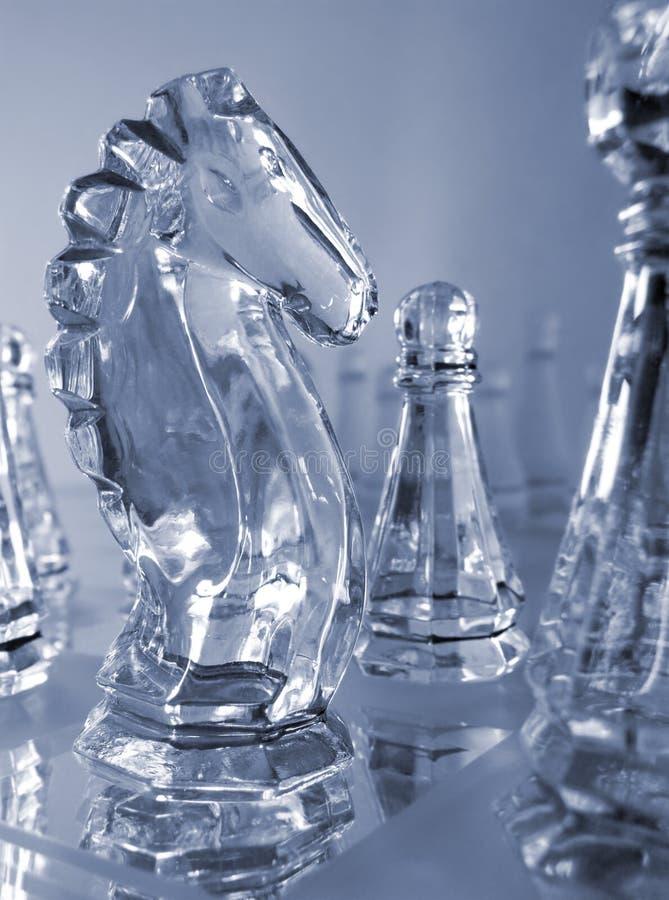 kawałków szachowych strategia zdjęcia stock