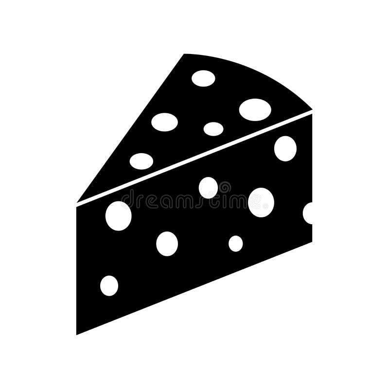 Kawałka sera ikona royalty ilustracja