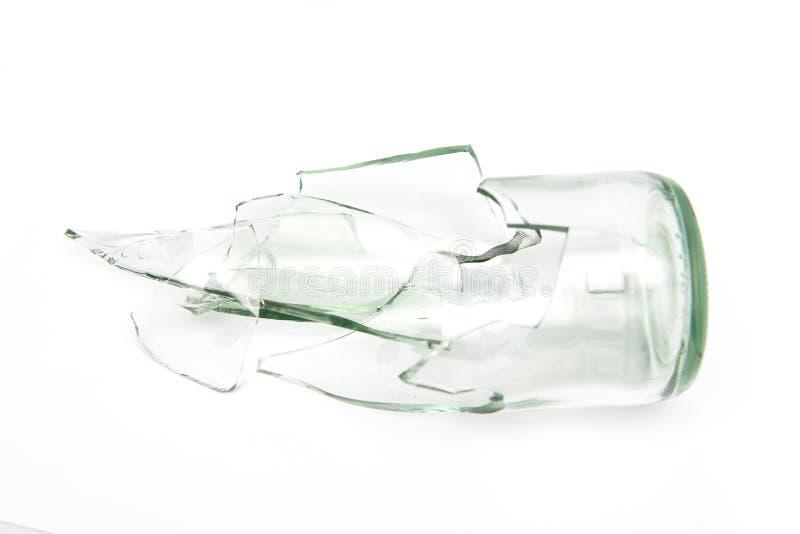 Kawałki łamany butelki szkło zdjęcia royalty free