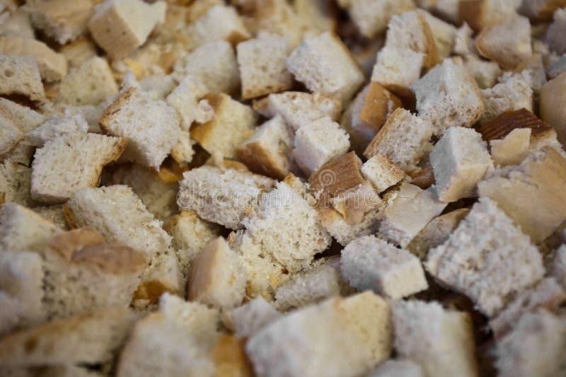 Kawałki chleb w ortodoksyjnym kościół fotografia stock