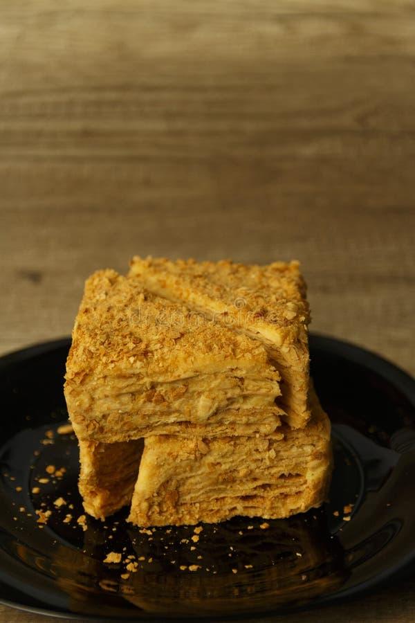 Kawałki chuchu tort zdjęcie royalty free