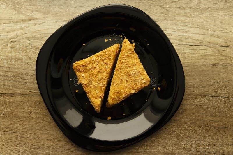 Kawałki chuchu tort zdjęcie stock