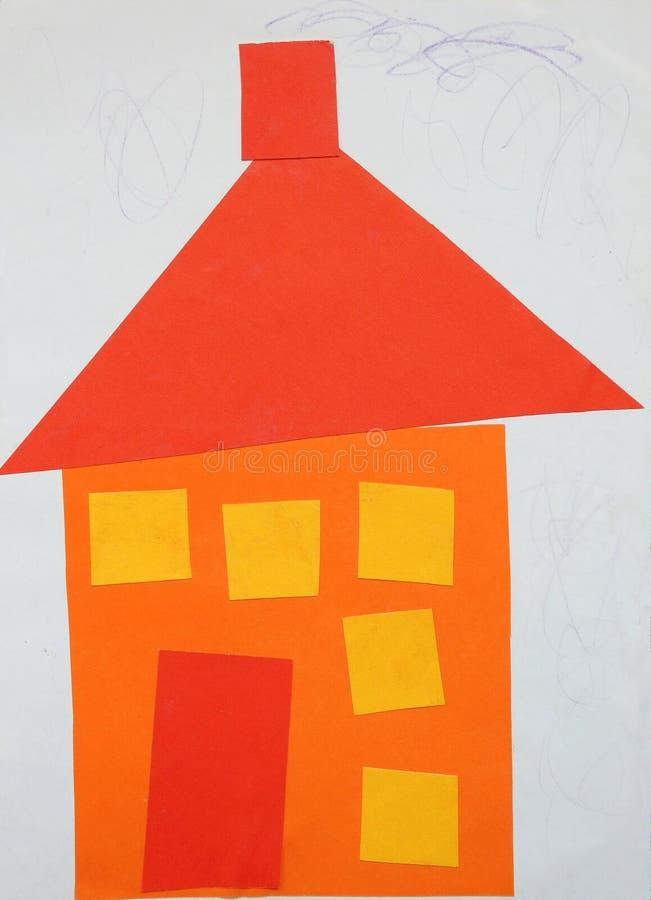 Kawałki ciący od papieru i stwarzają ognisko domowe obrazy royalty free