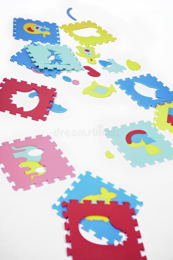 Kawałki gumy piany zabawki obraz stock