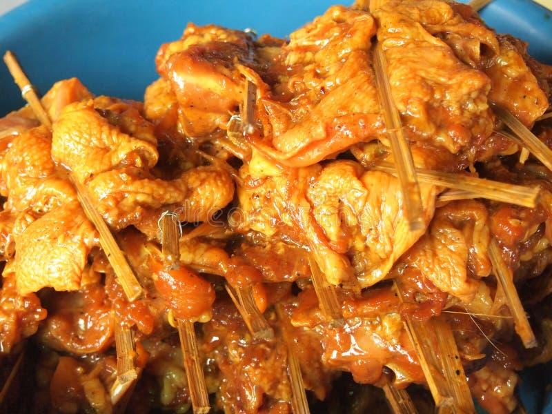 Kawałki kurczaka obraz stock