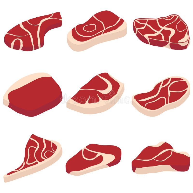 Kawałki mięso ilustracji