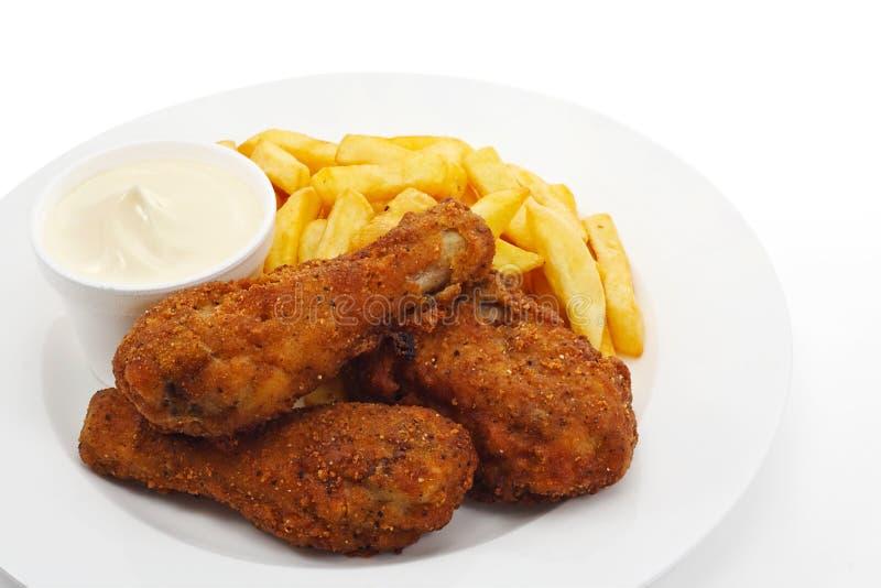 Kawałki południowy pieczony kurczak fotografia stock