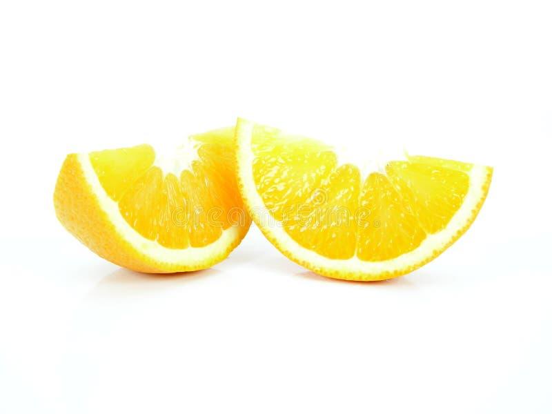 kawałki pomarańczowe obrazy stock