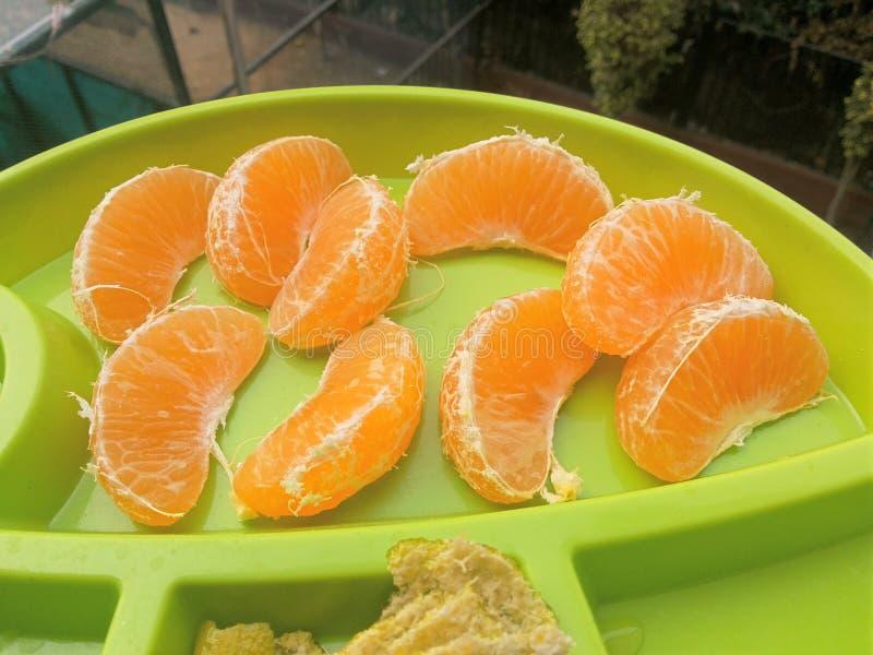 kawałki pomarańczowe zdjęcie royalty free