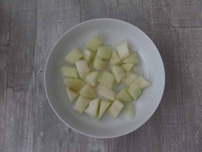 Kawałki słodki miodowy rosa melon zdjęcie stock