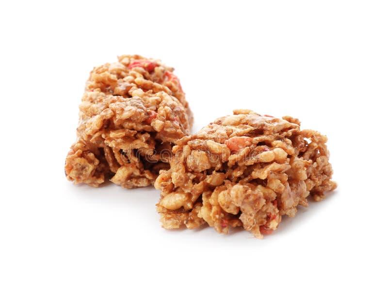 Kawałki smakowity proteina bar zdjęcia stock