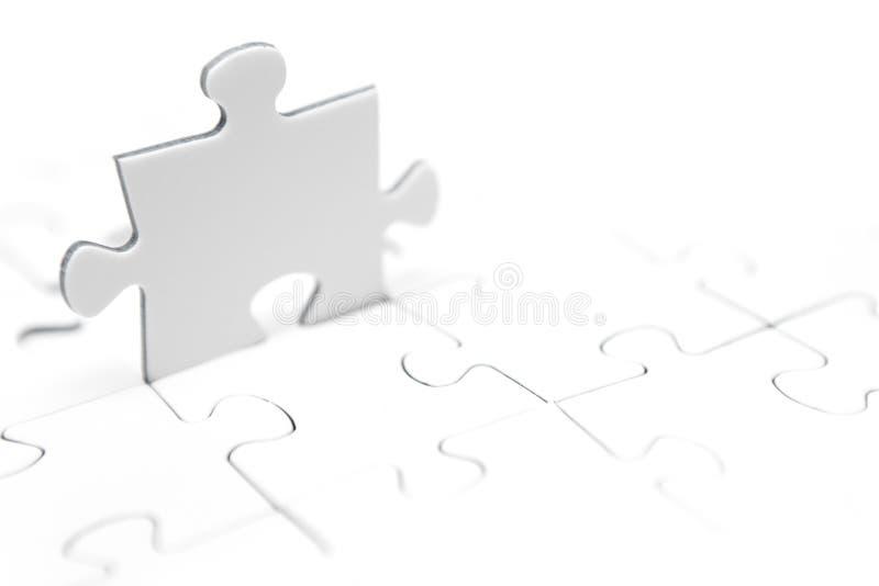 kawałki stanowisko jigsaw zdjęcie stock