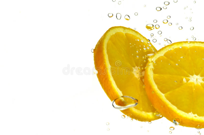 kawałki tego pomarańczowego obrazy stock