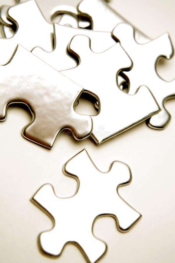 kawałki układanki jigsaw obrazy stock