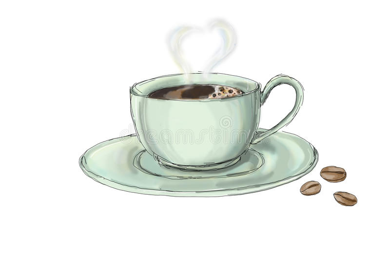 Kawa royalty ilustracja