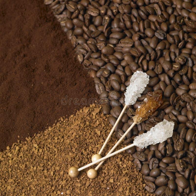 kawa cukier zdjęcia royalty free