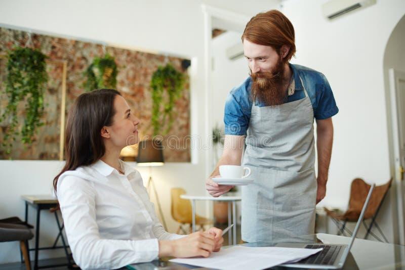 Kawa dla klienta fotografia royalty free