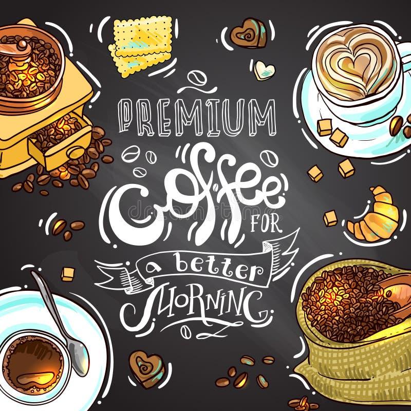 kawa dla twój projekta royalty ilustracja