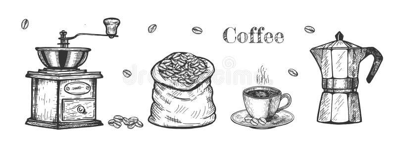 Kawa do produkcji ilustracja wektor