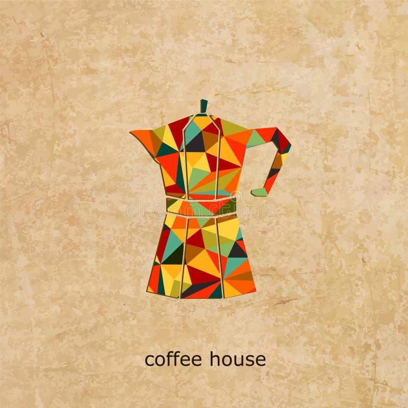Kawa domowy wektorowy logo ilustracja wektor