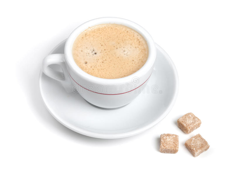 Download Kawa Espresso Dojny Kawałków Cukier Trzy Zdjęcie Stock - Obraz złożonej z śniadanie, stal: 13331344