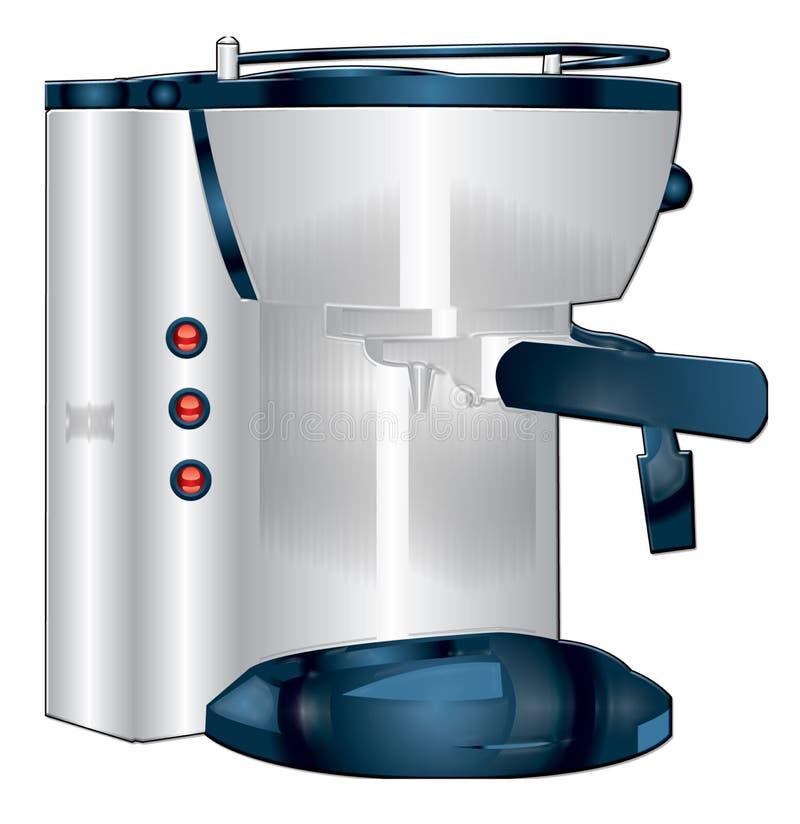 kawa espresso maszyna royalty ilustracja