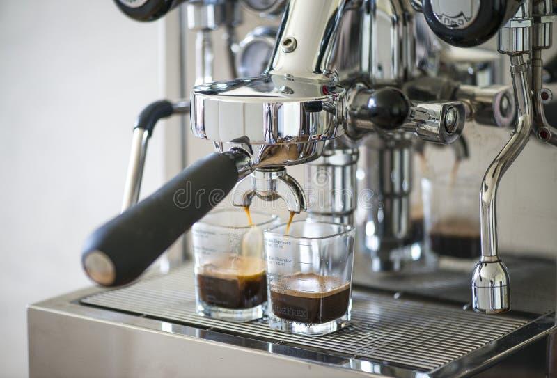 Kawa espresso od kawowej maszyny fotografia royalty free