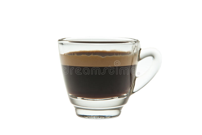Kawa espresso strzału szkło obrazy royalty free