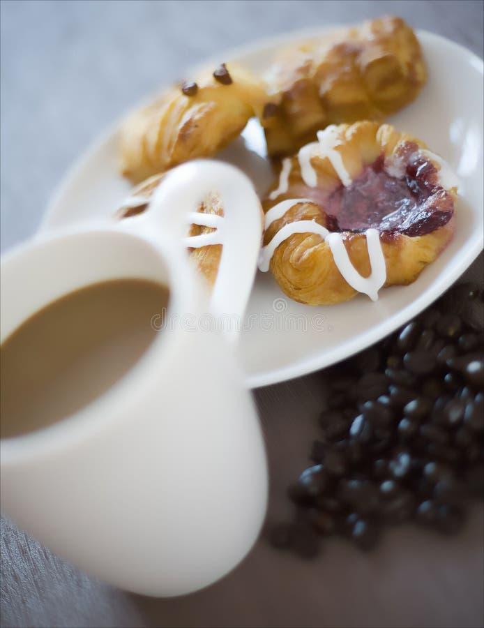 Kawa i ciasto obrazy stock