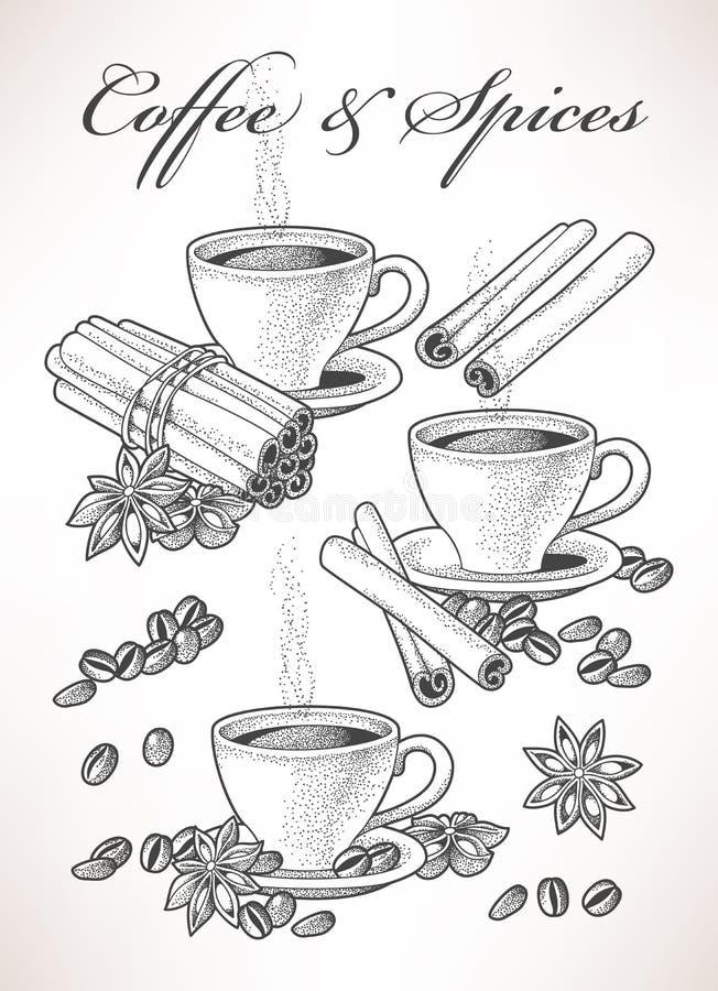 Kawa i pikantność ilustracji