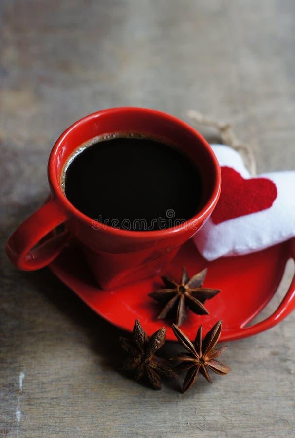Kawa i serce zdjęcia stock