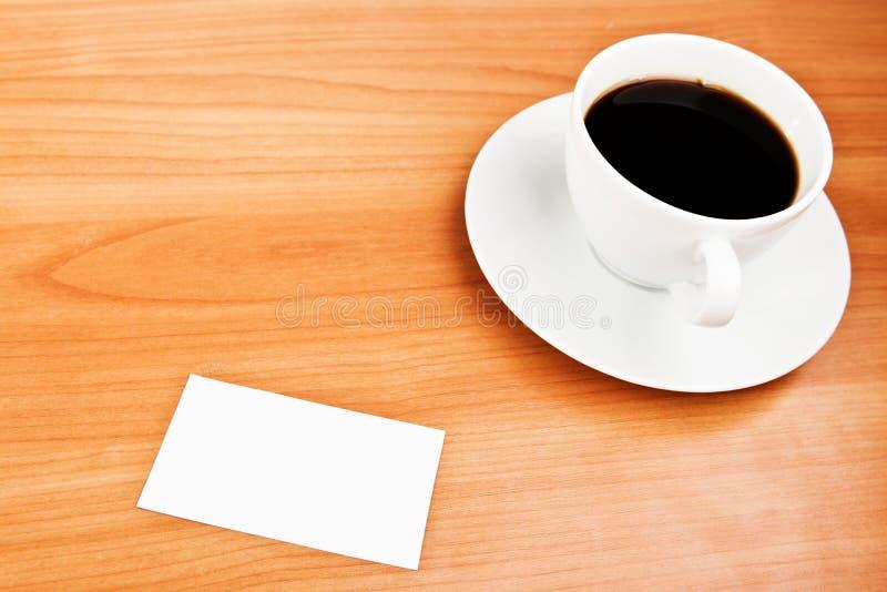 Kawa i wizytówka zdjęcia stock