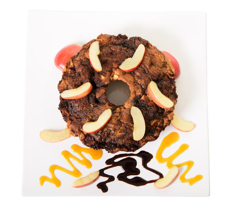 Download Kawa jabłczany Tort zdjęcie stock. Obraz złożonej z homemade - 27685702