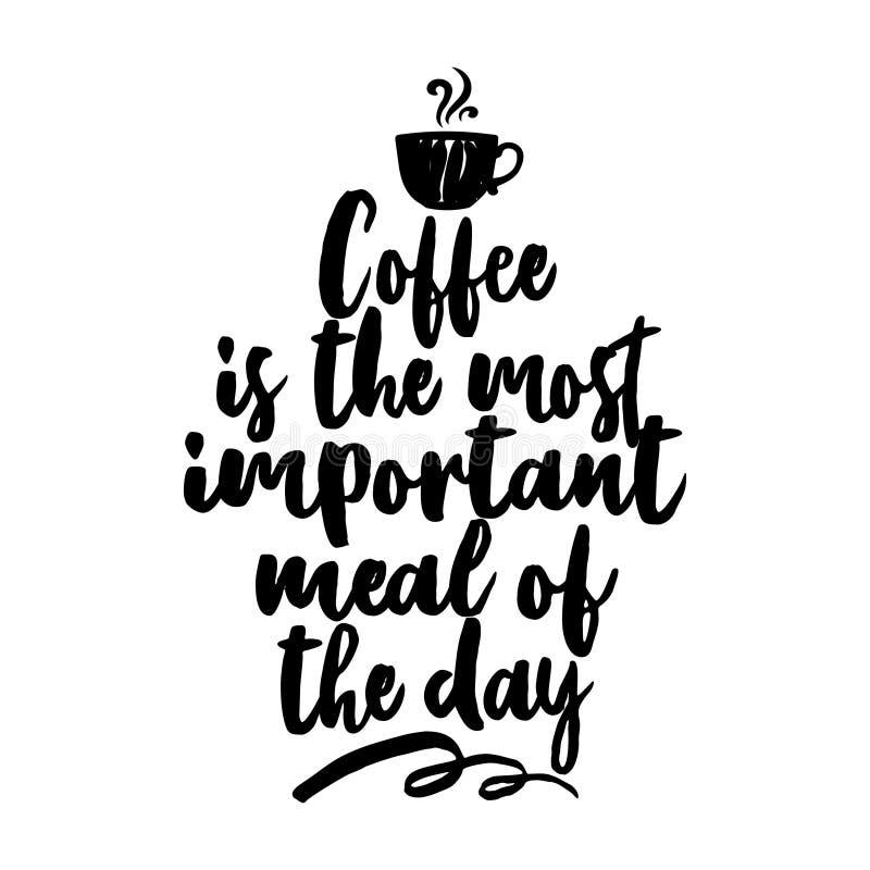 Kawa jest znacząco posiłkiem dzień ilustracji