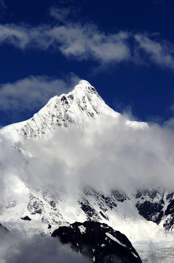 Kawa Karpo Peak stock image