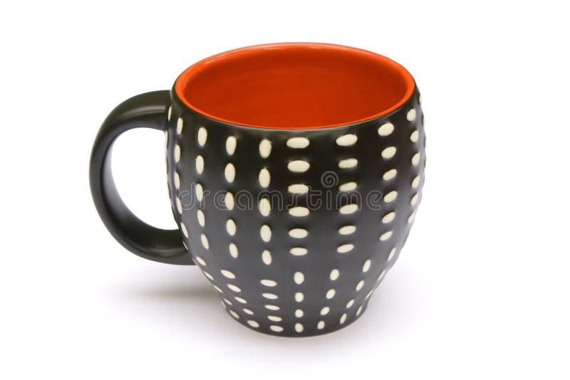 kawa kropkujący kubek zdjęcia stock