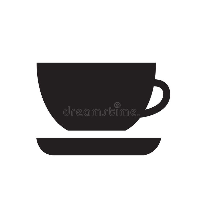 Kawa kubek ikona wektor ilustracja gorący napój herbata izolowana royalty ilustracja
