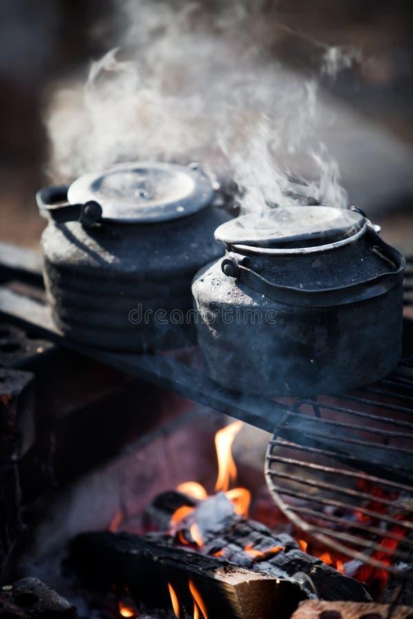 Kawa ogniskiem zdjęcie stock