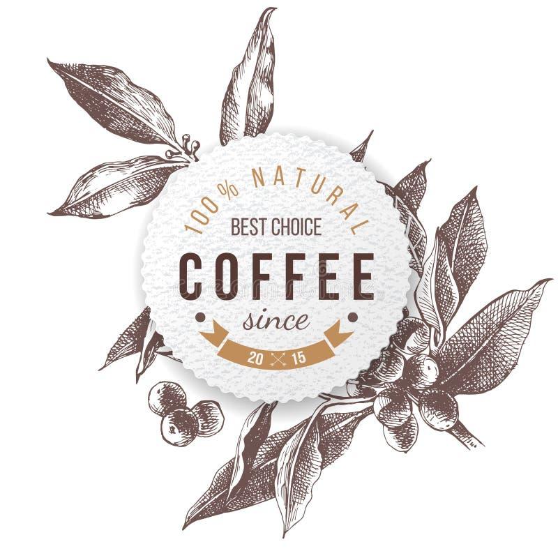 Kawa papierowy emblemat ilustracji